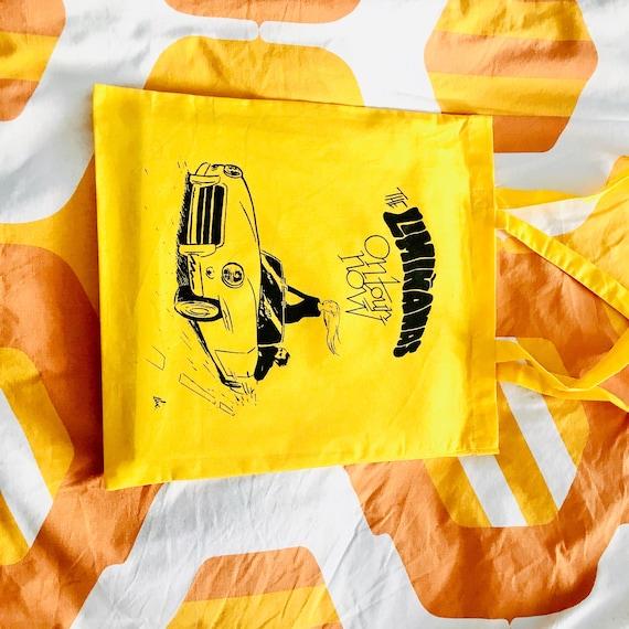 "Mr. Tote Bag. ""Liminanas on tour"" JAUNE.  Artwork Elric Dufau"