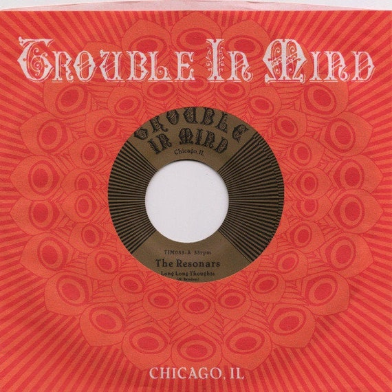 45t/7' The Resonars-  Long long Throughts/Paint my window Green- Trouble in mind - Rec USA limited