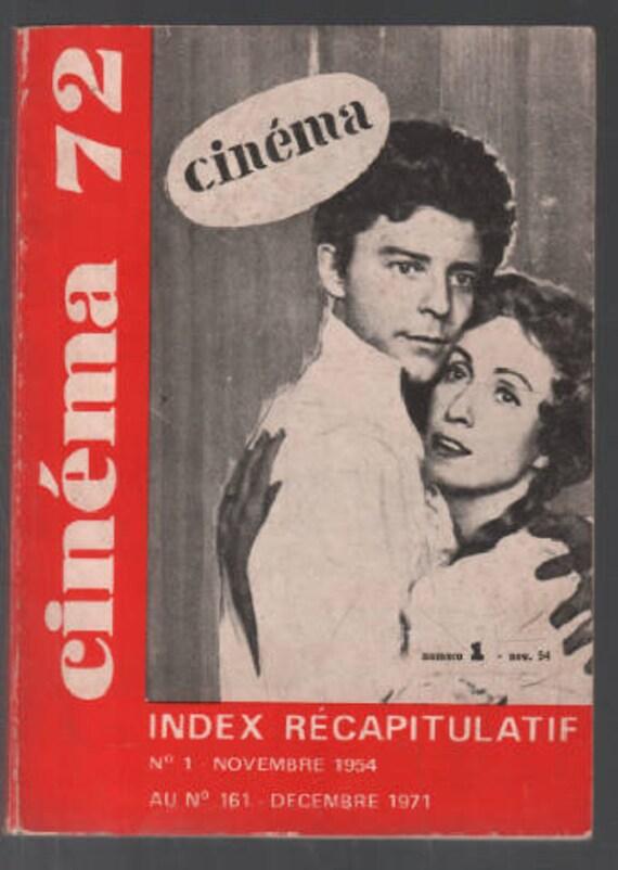 Revue cinéma 72 index récapitulatif ( du n 1 au n 161 ) bon état - 1972 second hand