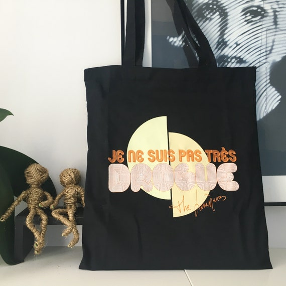 Tote bag. I'm not very drug Cecile v1 Black The Limi-anas