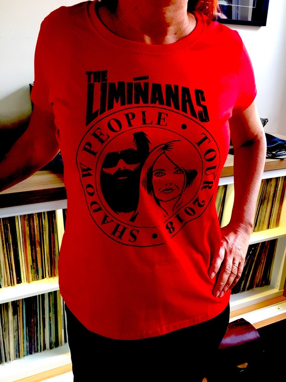T Shirt Women - Shadow People Tour- The Limi-anas -red- NEW!