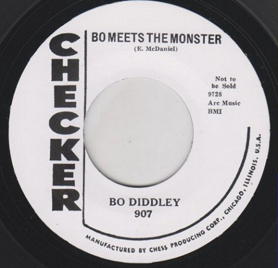 Repro RNR/RNB - 45t/7' No sleeve -Bo Diddley-Bo meets the monster/Willie and Lillie