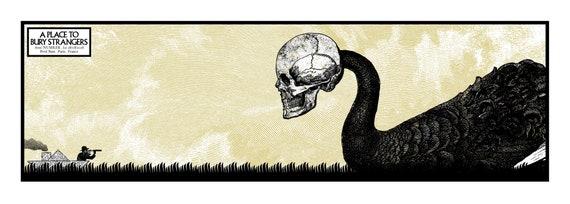 A place to bury Stranger- Cyrille Rousseau-Sérigraphie 2 couleurs, Petit bain, édition limitée