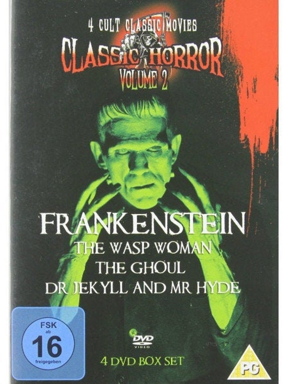 Frankenstein- the ghoul- Dr Jekyll and Mr Hyde 4DVD boxset English ntsc all zone