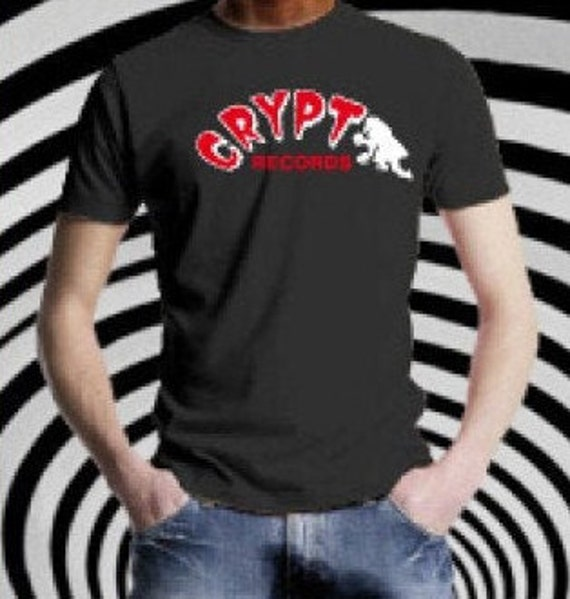 T Shirt  homme - Crypt Records- Black