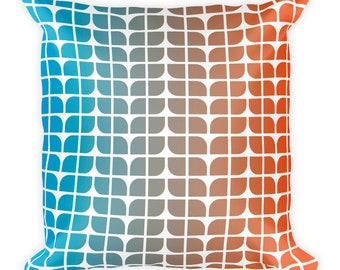 Blue to Red Gradient Square Pillow