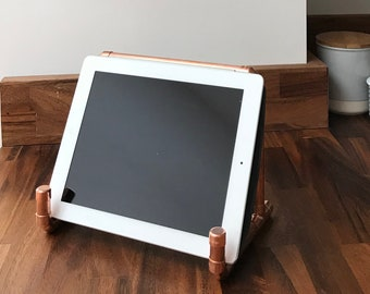 Copper iPad/ tablet or book holder