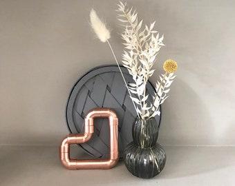 Copper pipe Heart