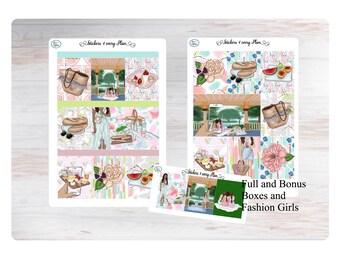 Besties Picnic  Weekly Sticker Kit/ Erin Condren, Happy Planner, B6, Mini Kit