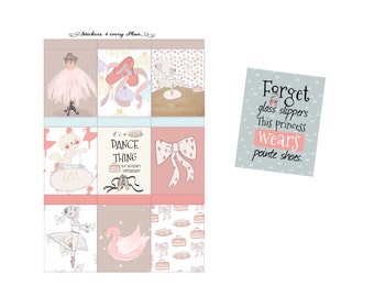 Born to Dance Weekly Sticker Kit/ Erin Condren, Happy Planner, B6, Mini Kit