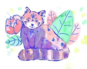 Red Panda II Art Print