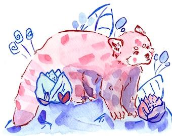Red Panda V Art Print