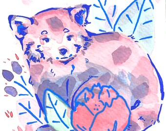 Red Panda I Art Print