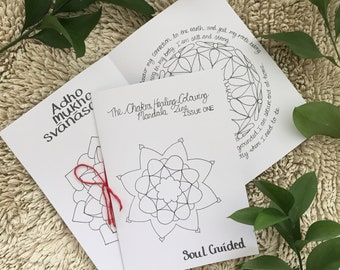 The Chakra Healing Colouring Zine