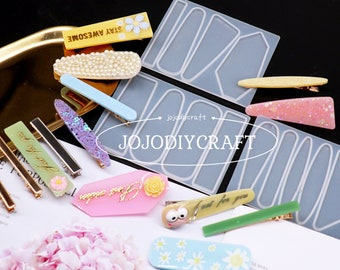 8PCS Hairpin Molds /& 3PCS Comb Resin Molds with 12PCS Gold Foil Leaf,Hair Stick Tools Accessories Molds for Jewelry Hair Clips