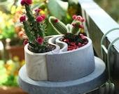 Taichi Deisgn Concrete Succulent Planter Mold-Creative Concrete Pot Silicone Mold-Concrete Flower Pot Mold-Home Decoration Cement Mold