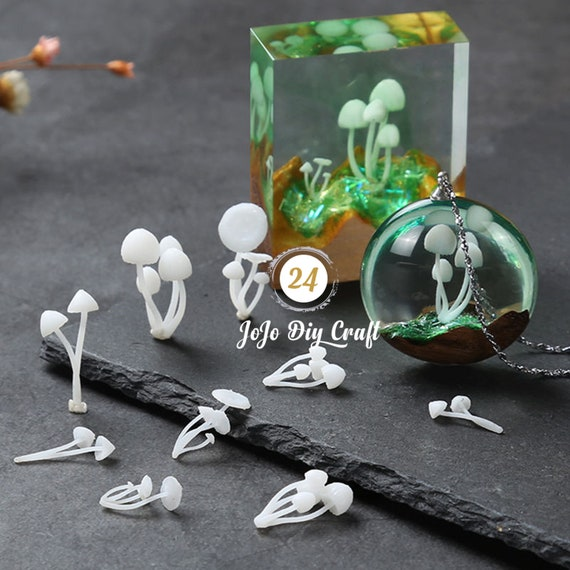 Micro Landscape Mini Mushroom Resin Mold Fillings Jewelry Pendant Making Craft
