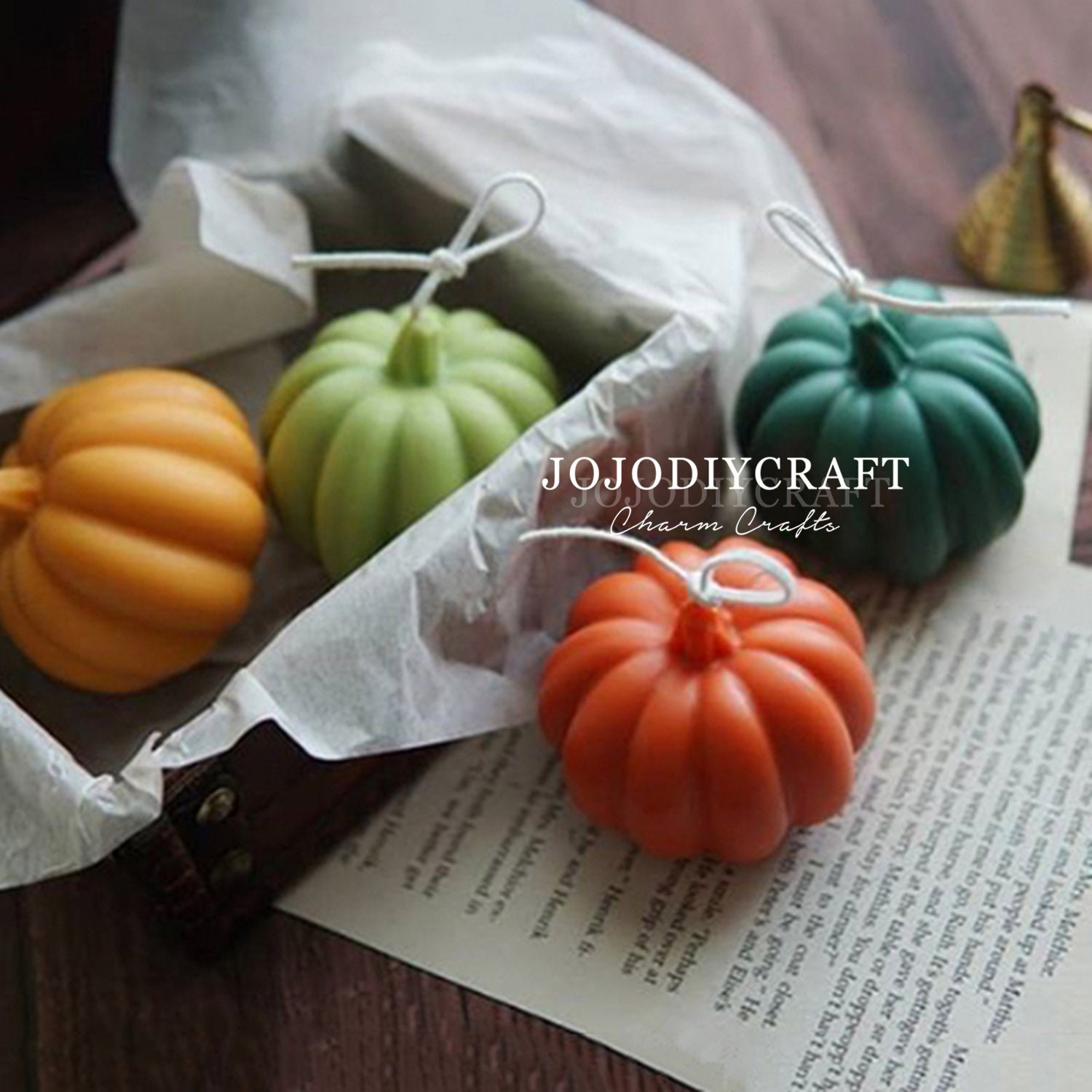 3D Pumpkin Candle Silicone Mould,Epoxy Mold,Special Candle Mold,Silicone Soap Mold,Food Grade Material,Soap Mold Making,Making Candle Mold