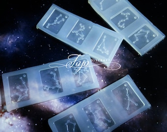 12 Constellation Pendant Silicone Resin Mold-Constellation Design Mold-UV Resin Mold-Zodiac Symbol Mold-DIY Epoxy Resin Jewelry Pendant Mold