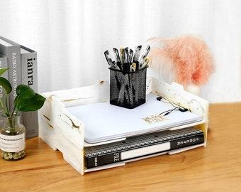 Desktop Storage Box Mold-Folder Stationery Box Pen Holder Notebook Storage Mold-DIY Office Home Decoration Mold-Epoxy Resin Crafts Mold