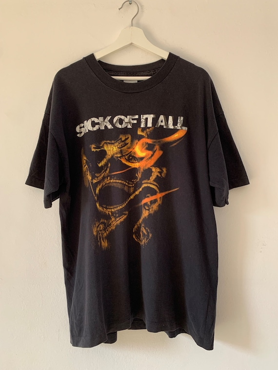 Vintage Sick of It All \u201c SOIA \u201c American Hardcore Punk Music Band T-Shirt Grab It !