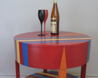 Ultra Modern Red End Table