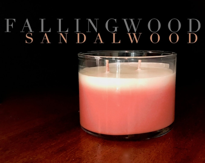 Sandalwood soy candle/candle/soy/sandalwood/earth scents