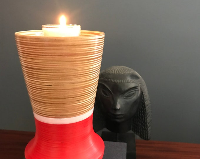 Wood Vase , Candle Holder, Vessel and Stained and Tung Oil