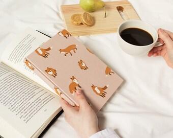 Little field foxes - Handmade notebook