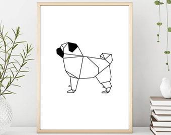 DIY Papercraft PugPaper pugPaper dogpaper petsPaper | Etsy | 270x340