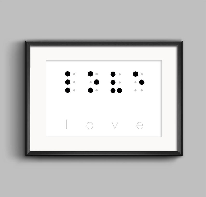 picture about Braille Alphabet Printable named Take pleasure in inside Braille Alphabet Printable, Delight in Phrase Printables, Braille Alphabet Print, Minimalist Wall Artwork, Scandinavian Artwork, Wall Decor Reward