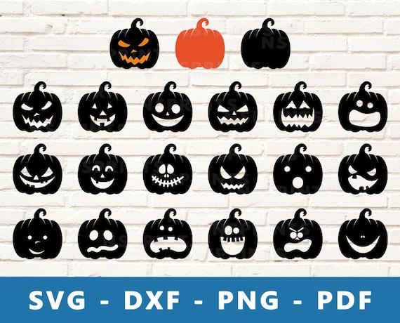 Jack O Lantern SVG Set Halloween Pumpkin PNG Hallooween