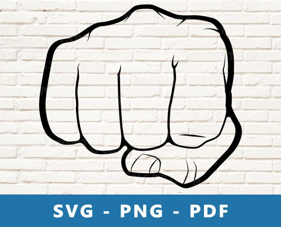 Fist Punch Svg Punch Png Knuckles Vector Fist Fight Cut Etsy