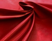 FAUX Silk Deep Burgundy Red Fabric Drapery, Curtain, Upholstery, Pillow Fabric by the Yard