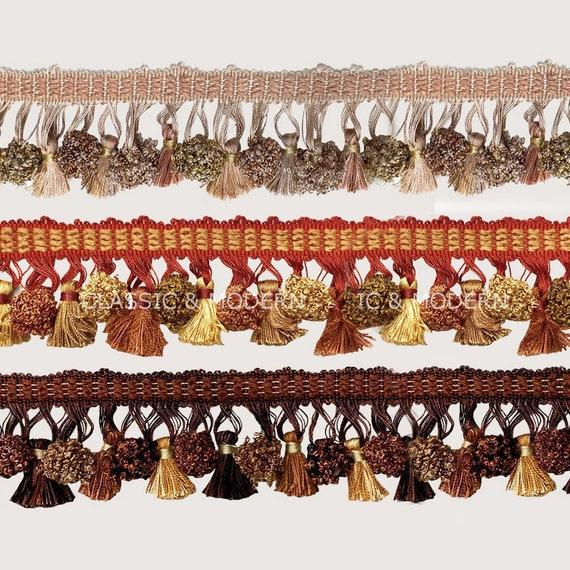 1 M lucxury rideau coudre Tassel Fringe Trim Tassel Cristal Perle Dentelle Accessoire