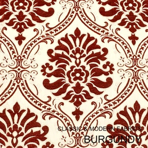 Classic Floral Damask Gray Velvet Fabric  Drapery Decor Costume  Fabric By the Yard  5 Colors Upholstery
