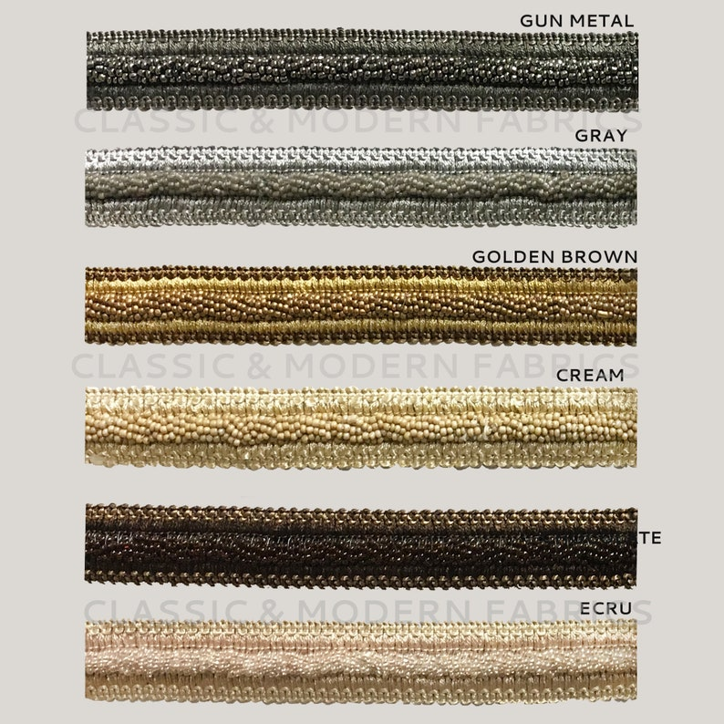 27 YARDS  6 COLORS  1 Beaded Gimp  Drapery Home Decor  By The Bolt Pillows Upholstery