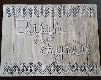 Rustic Custom Name Wall Art