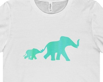 Mama And Baby Elephant T Shirt