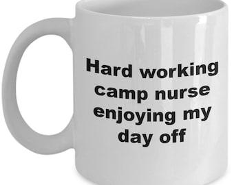 Hard working camp nurse enjoying my day off