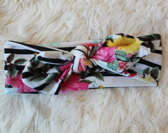 Striped Floral Headband
