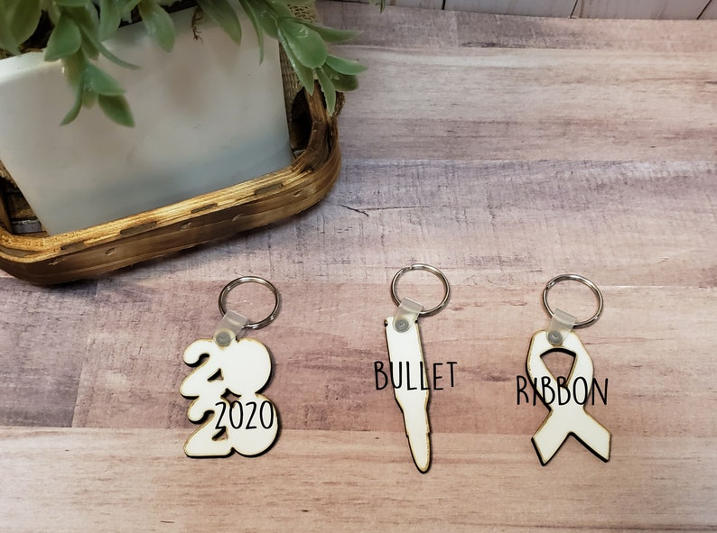 DOUBLE-SIDED key chain shape blanks for sublimation key chain sublimation blanks Sublimation hardboard blanks