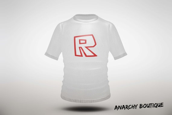 Roblox R T Shirt Image Instant Download Printable Sticker Iron On Transfer Digital File Gift - r t shirt roblox