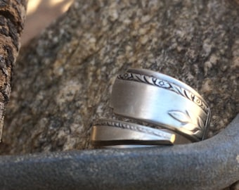 Spoon Ring-Wheat detailing