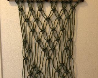 Olive macrame on bamboo