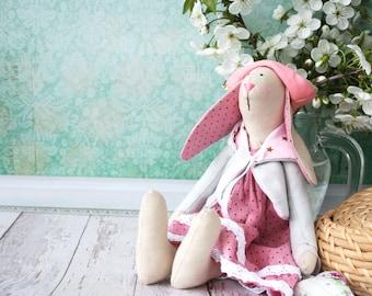 Tilda rabbit Dressed tilda interior doll Doll rabbit Toys tilda Room decor doll tilda doll textile Dressed doll bunny tilda poupee pupa