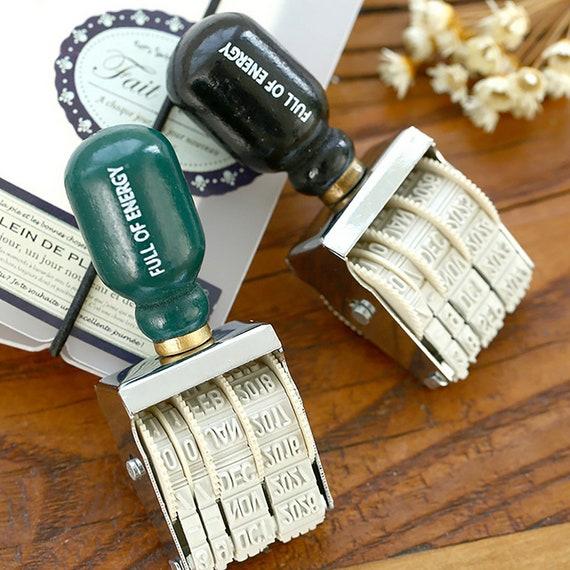 DIY Wheel Knob Seal Stamp Cute Scrapbooking Date Making Office Date Stamps