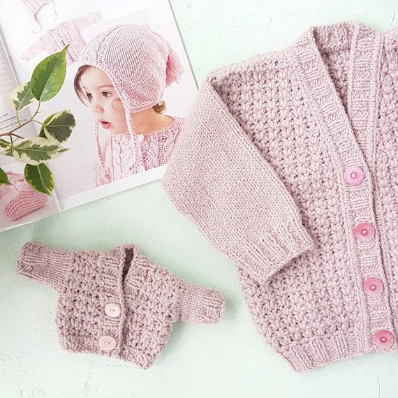 20f14df7d Pink cable cardigan WOOL coat for girl Baby wool cardigan