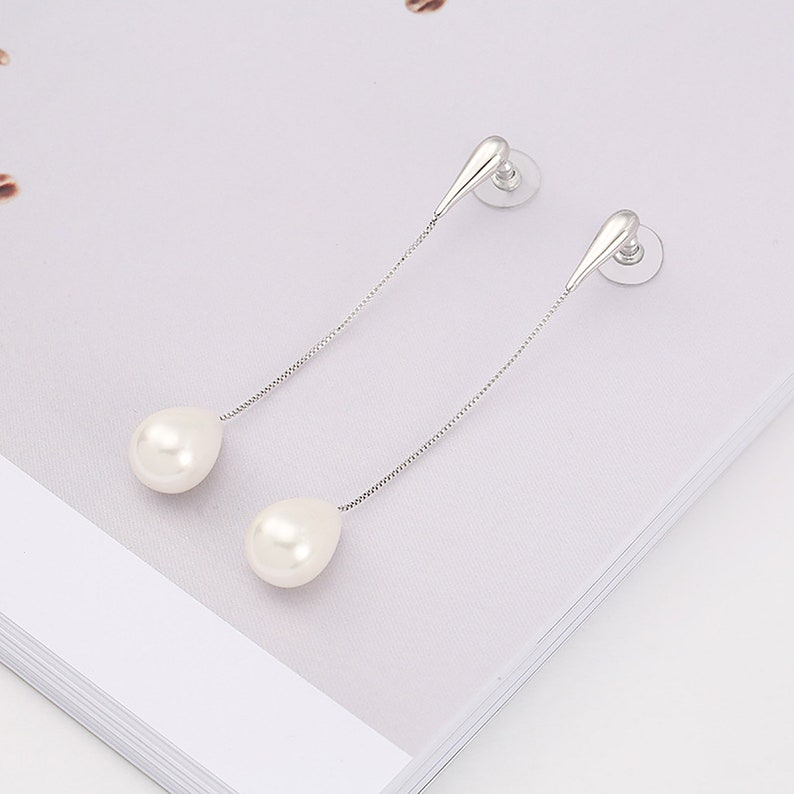 Piercing trendy dainty graceful ear cuff,two pc a set Pear Earring,Long Earring Contracted simple unpredictable Woman earring accessories