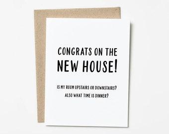 Funny Housewarming Card, New Home Housewarming Gift